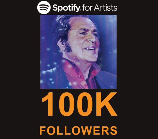 engelbert humperdinck reaches 100000 followers on spotify