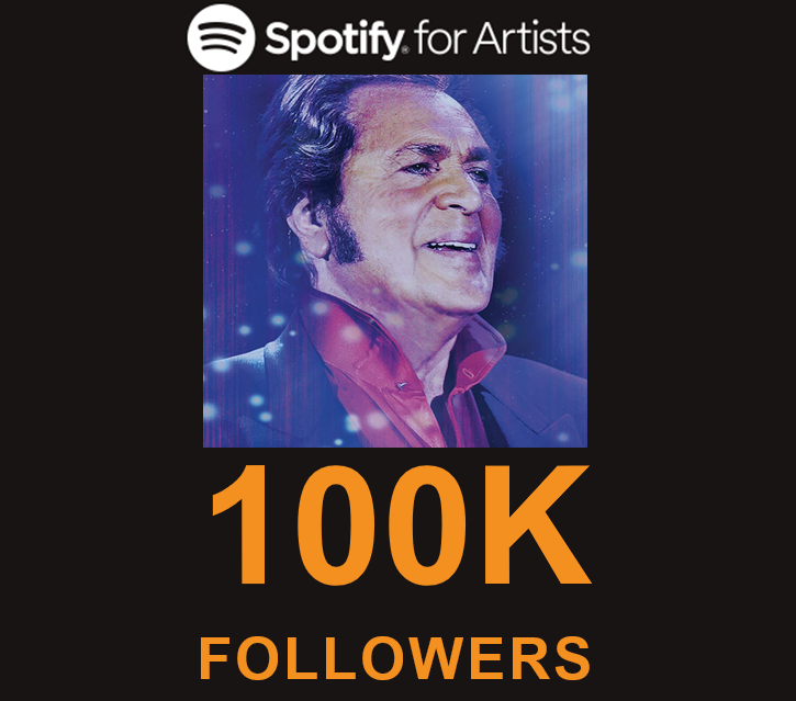 engelbert humperdinck reaches 100000 followers on spotify
