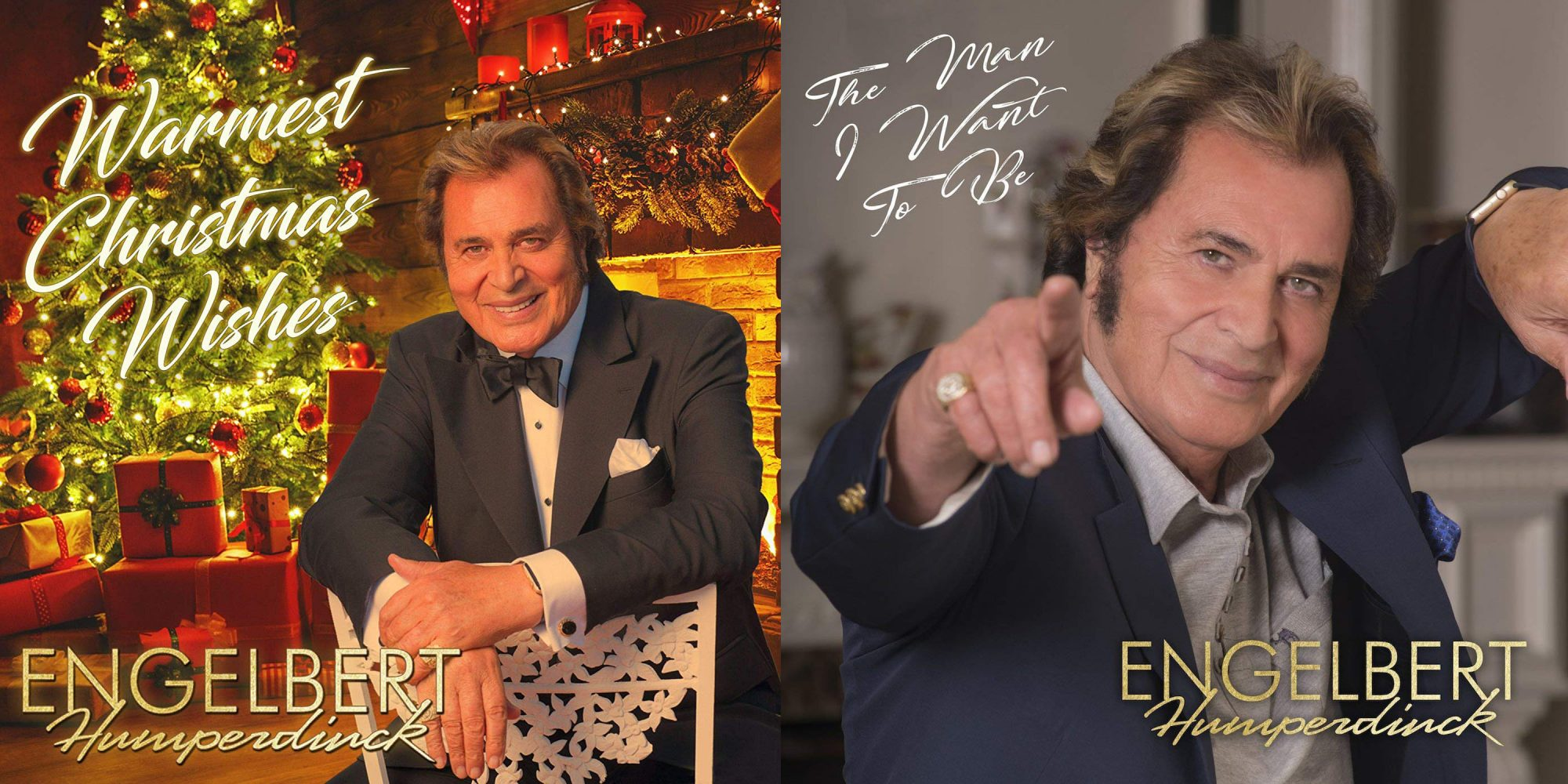 engelbert humperdinck, warmest christmas wishes, the man i want to be, album covers