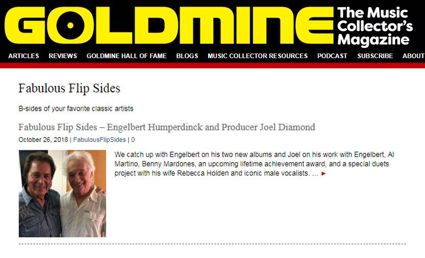 engelbert humperdinck goldmine interview