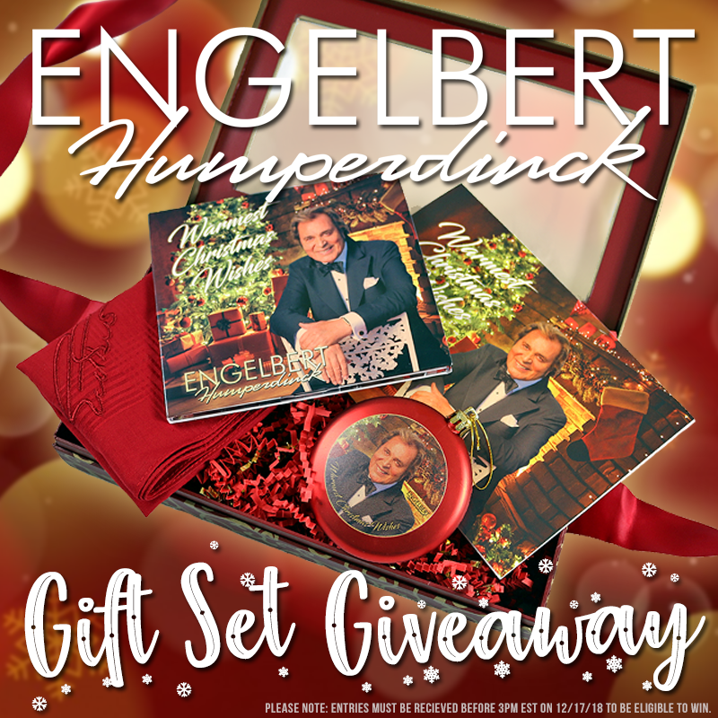 Engelbert Humperdinck Warmest Christmas Wishes Gift Set Giveaway!