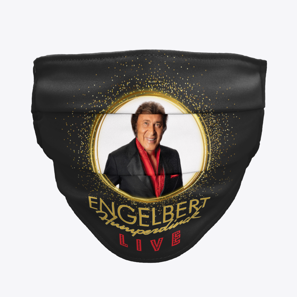 Engelbert Live! Commemorative Merchandise line now includes Face Masks!