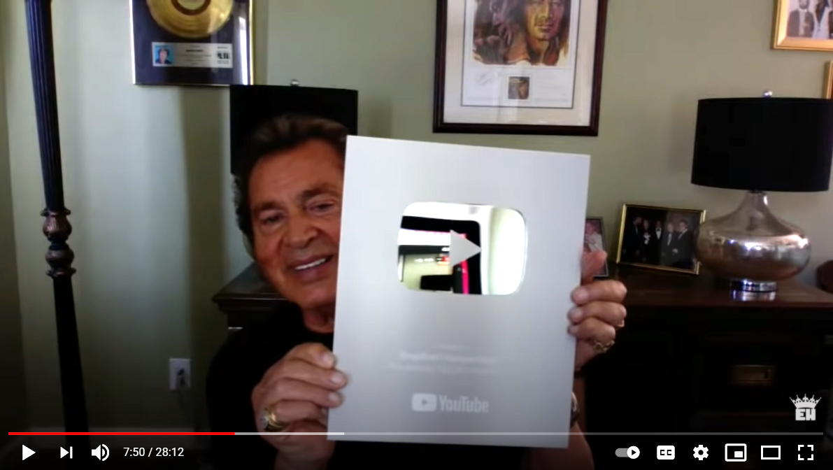 Engelbert Humperdinck Celebrates 100,000 Subscribers on YouTube and Announces Upcoming Concerts & Specials